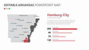 Editable Arkansas PowerPoint Map